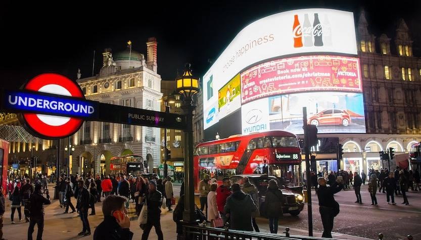 Londra muoversi di notte