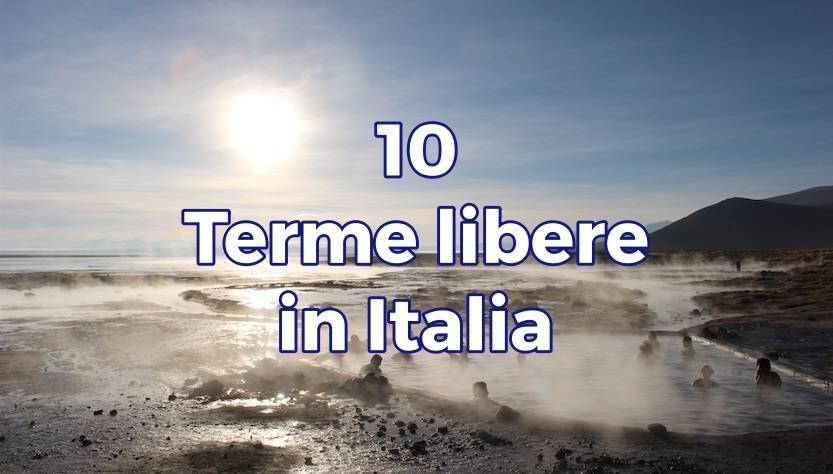 Terme libere in Italia