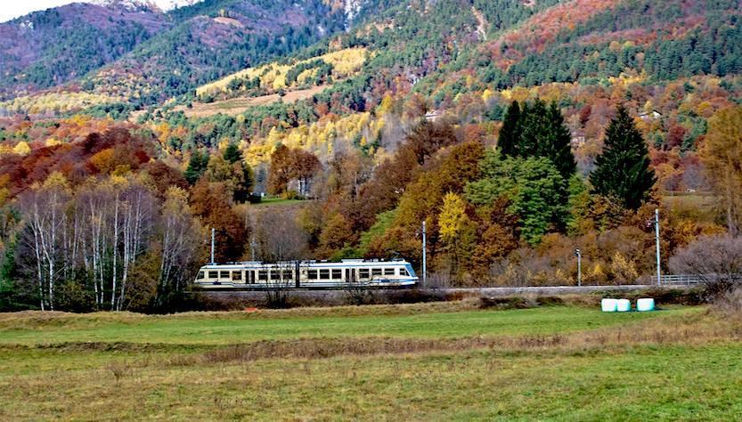 Ammirare il foliage dal finestrino di un treno